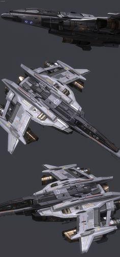 """Spaceship Closeups"" by Alan Van Ryzin - http://polygoo.com/"