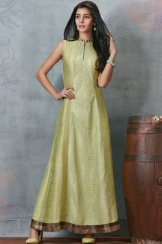 Pastel Green Raw Silk Zari Embroidered Designer Salwar-SL8467 - Buy Online  #samyakk #salwar #rawsilk #zariwork #embroidered #designer #pastels #gown #green