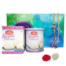 Dual Rakhi with Sweet Delights