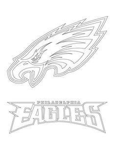 philadelphia eagles logo football sport coloring pages printable and coloring book to print for free. Find more coloring pages online for kids and adults of philadelphia eagles logo football sport coloring pages to print. Sports Coloring Pages, Disney Coloring Pages, Free Printable Coloring Pages, Coloring Pages For Kids, Coloring Books, Coloring Sheets, Eagles Football Team, Football Stuff, College Football