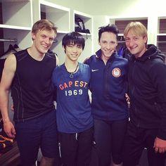 My all time favorite figure skaters: Tomas Verner, Yuzuru Hanyu, Johnny Weir & Evgeni Plushenko.