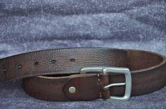 Mens Leather Belt Distressed Dark Brown Cowhide by SherryJewelry, $25.00