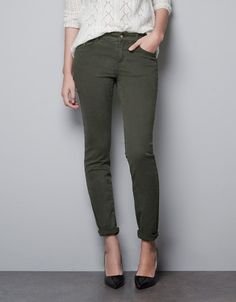 ANKLE LENGTH TROUSERS - Trousers - TRF - ZARA United States