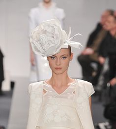 Fancy Paper Head Accessories at Chanel Couture | Fashion Trends
