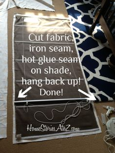how to recover roman shade - great for changing up decor or customizing an inexpensive shade.