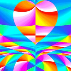 Psychedelic Heart | psychedelic heart rainbow plur all you need is love animated GIF