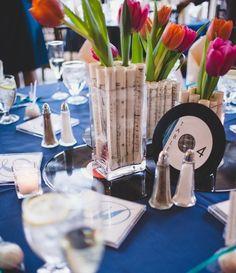Se amate la musica eccovi qualche idea per un matrimonio a tema: Numero tavoli e tableau Decorazioni Coni porta…