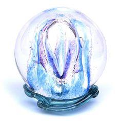 Sky Blue & Purple Embrace Memory Glass Keepsake