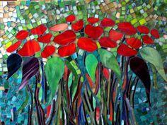 Fire Flowers Mosaic by Barbara Garstecki