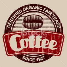 Vintage Coffee Label Royalty Free Stock Vector Art Illustration