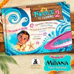 Moana Invitation - Moana Party Invitation - Moana Birthday Party - Disney Moana - Moana Printables - Custom Invitation - Disney Princess de LythiumArt en Etsy