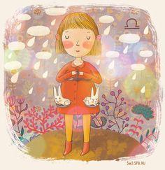 The horoscope illustrated by Julia Grigorieva Libra
