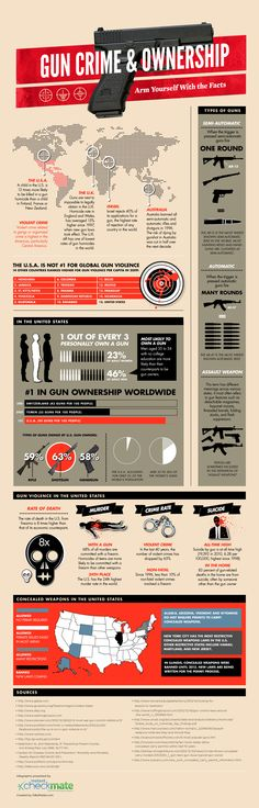 The Gun Debate: Arm Yourself With The Facts #Infographics — Lightscap3s.com