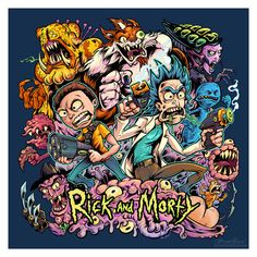Confira este projeto do @Behance: u201cRick and Morty T-Shirt Illustrationu201d https://www.behance.net/gallery/41757851/Rick-and-Morty-T-Shirt-Illustration