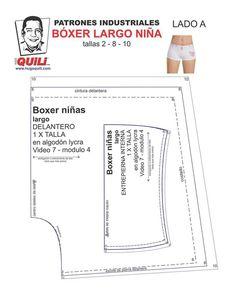 Boxer Dama, Clothing Patterns, Sewing Patterns, Underwear Pattern, Sewing Lingerie, Pattern Making, Beachwear, Couture, Fabric
