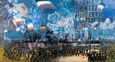 "George Luks, ""Armistice Night,"" 1918. Whitney Museum of American Art"