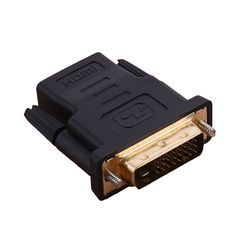 New DVI 24+1 Male to HDMI Female Converter HDMI to DVI adapter Support 1080P for HDTV LCD DVI-D Gold Plated Adapter