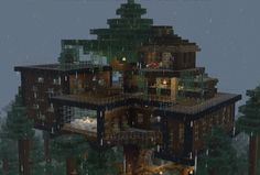 Minecraft buildings treehouse _ tree house of minecraft-buildings _ . Minecraft Mods, Minecraft Villa, Minecraft Building Blueprints, Minecraft Mansion, Minecraft Structures, Minecraft Houses Survival, Easy Minecraft Houses, Minecraft Plans, Minecraft House Designs