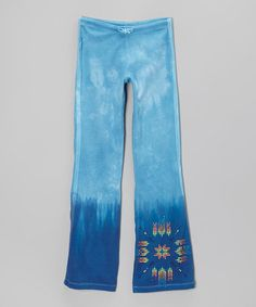Another great find on #zulily! Blue Arrow Tie-Dye Pants #zulilyfinds