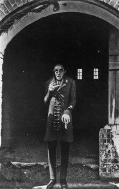Max Schreck as Count Orlok in F.W. Murnau's Nosferatu (1922)