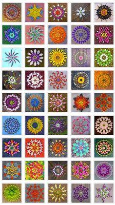 "Just gorgeous- ""Danmalas"" flower mandalas by Kathy Klein"