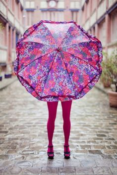 I wish I looked this cute in the rain...