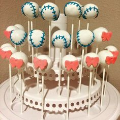 Gender Reveal Pops. The Crazy Cake Pop Lady