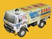 Dakar 1988 Liaz 111.154D Free Vehicle Paper Model Download