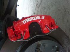 mazda3 2014 red caliper