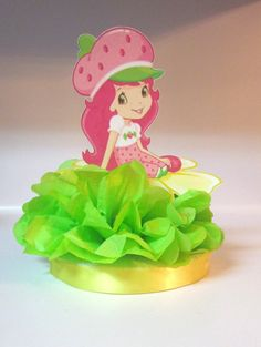 Strawberry Shortcake Centerpiece  Birthday by KhloesKustomKreation, $12.00