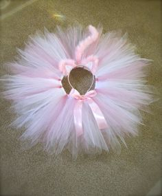 Pink Kitty Costume White and Pink Tutu with Pink by jessicakertel1, $35.99