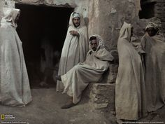 Men in Algeria.  Vintage National Geographic Photograph by Franklin Price Knott. A circa 1926.