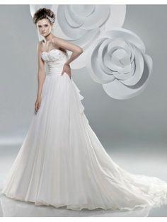 Organza Sweetheart Ruched Bodice A-line Wedding Dress