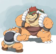 toomanyboners: The sumo Bowser pic by itself (by request) Mario And Luigi, Mario Bros, Batman And Robin Costumes, King Koopa, Princess Daisy, Super Mario Art, Nerd Art, Nintendo Characters, Monster Art