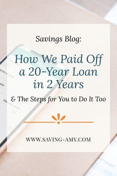 Find out how we paid down a 20-year, simple, fixed-rate installment loan in just 24 months. #savingamyblog #savingmoney #savings #debtfree #finance