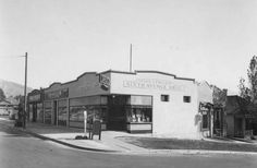 Frank J. Folland drug store on the southeast corner of 6th Avenue and E Street, 1920. Courtesy Utah State Historical Society