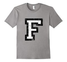 T-Shirts & Gifts with a printed distressed letter F. For names, words, sentences, athletes, sports clubs, societies, clubs, teams or jerseys. If you are interested in the letter F, alphabet, starting letters, initials, initial, name, jersey, sports club or team, you might like this shirt. You can combine several shirts to write entire names or sentences.