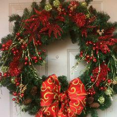 Glittery Christmas wreath