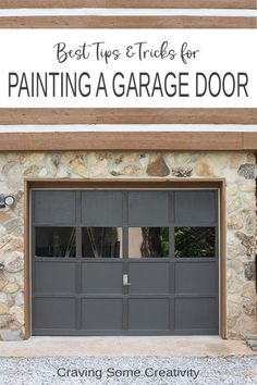 Garage Door Makeover- Tips and Tricks for how to paint a garage door that lasts and looks beautiful while improving your curb appeal. #garage #painting #diy #landscaping #garagedoors Garage Door Paint, Garage Door Makeover, Wood Garage Doors, Best Flooring, Flooring Options, Home Improvement Projects, Home Projects, Outdoor Projects, Decorating Your Home