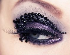 purple/black rhinestone eyes