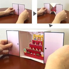 Pop Up card Fun Fold Cards, Folded Cards, Diy Cards, Tarjetas Diy, Tunnel Book, Diy And Crafts, Paper Crafts, Pop Up Art, Paper Pop