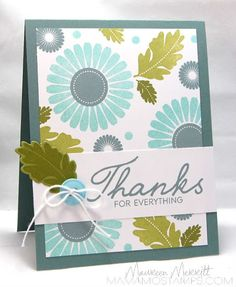 Mama Mo Stamps: Wallpapered thanks! Rosie Posey