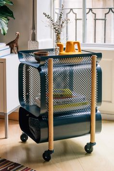 "As impressive in its functionality as it is in its blend of industrial and creative modern design, the Morris Cabinet made by Gravina fits into both office or home spaces. The Barcelona-based studio aims to create ""objects to build bounds with; Steel Furniture, Home Decor Furniture, Cool Furniture, Furniture Design, Regal Design, Modern Design, Interior Decorating, Interior Design, Home Decor Accessories"