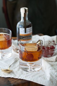This Spicy Maple Manhattan gets its hint of warm spice and sweetness from a vanilla, cinnamon and star anise infused maple syrup.