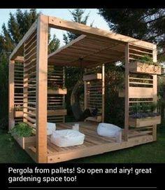 So Cool DIY: outdoor pallet room