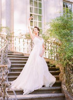 Ballerina Bridal at the Swan House in Atlanta, GA