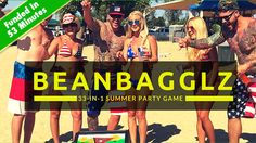 """Voted Hottest New Summer Party Game - BeanBagglz """"It's Cornhole on Steroids"""" Great fun for the Beach, RV/Camping, Tailgating and more."""