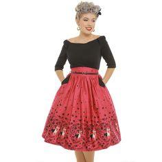 a18054f0f72 Retro šaty Lindy Bop Cara kočičí dáma Šaty Z 50. Let