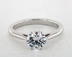 Danhov Classico Single Shank Engagement Ring | 14K White Gold  | 62010W14 - Mobile