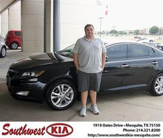 Happy Anniversary to David Perez on your 2013 Kia Optima from Christopher Meregini and everyone at Southwest Kia Mesquite!
